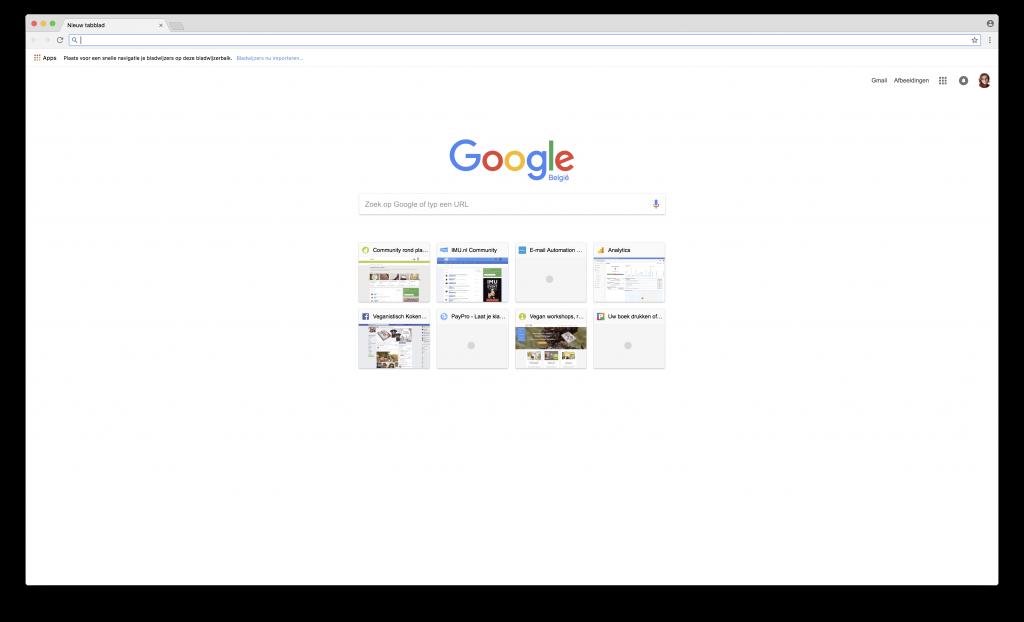 Schermafbeelding van een venster op een mac