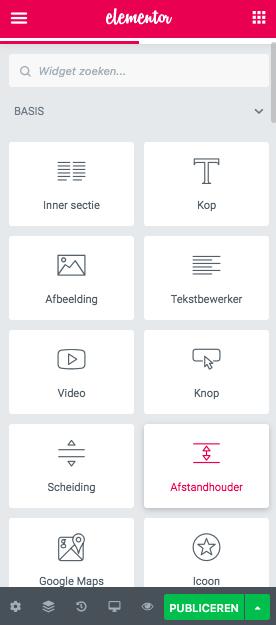 Elementor widgets page builder