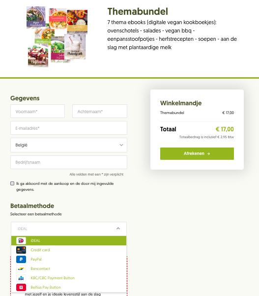 Betaalpagina maken met Plug & Pay