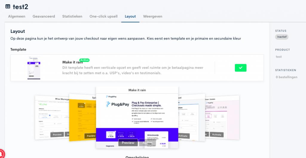 Plug & Pay templates voor betaalpagina's