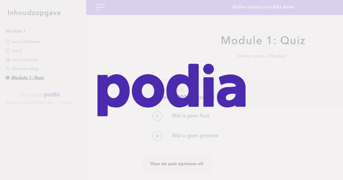 Podia review - software voor online cursus